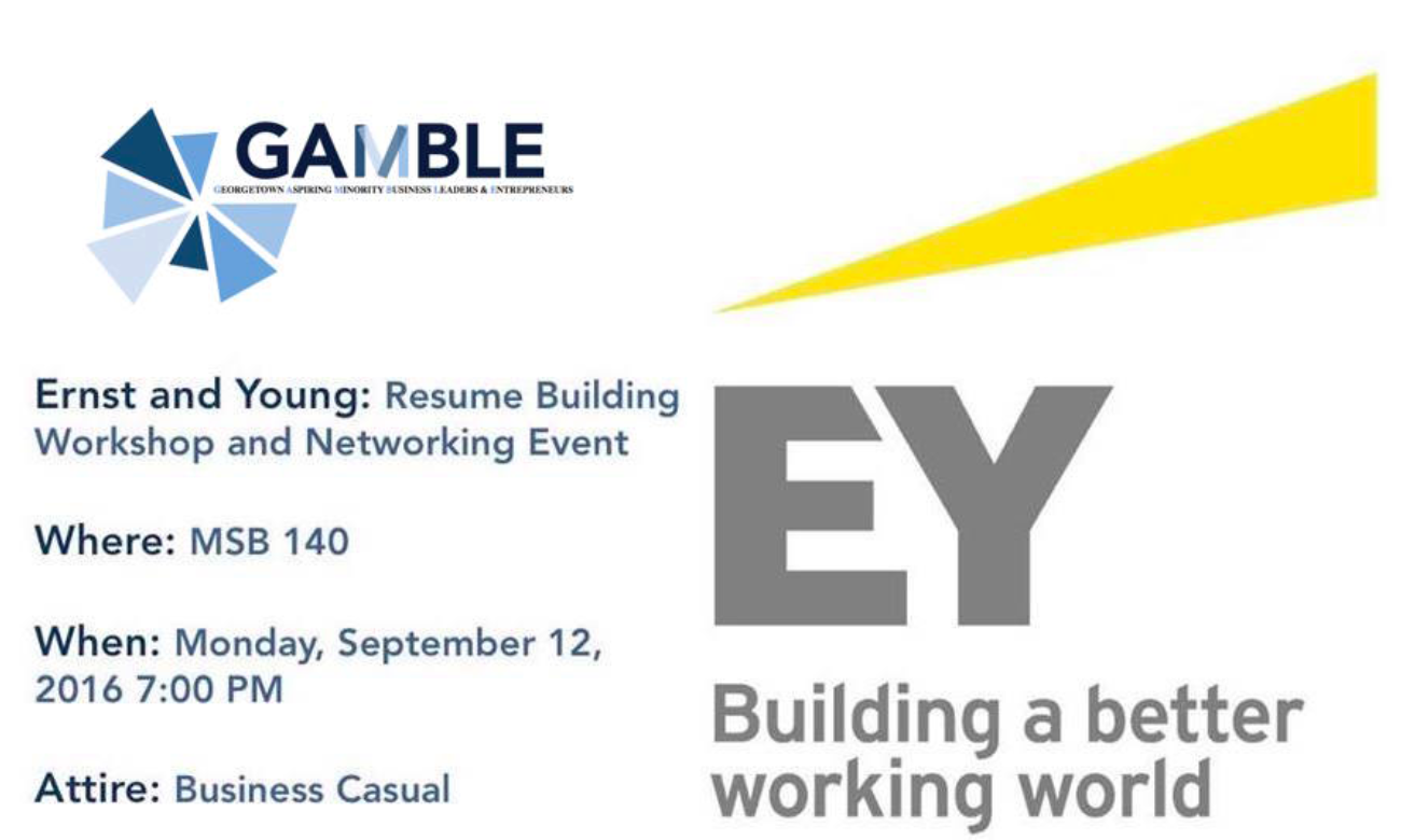 Ernst young resume workshop for Ernst and young resume sample