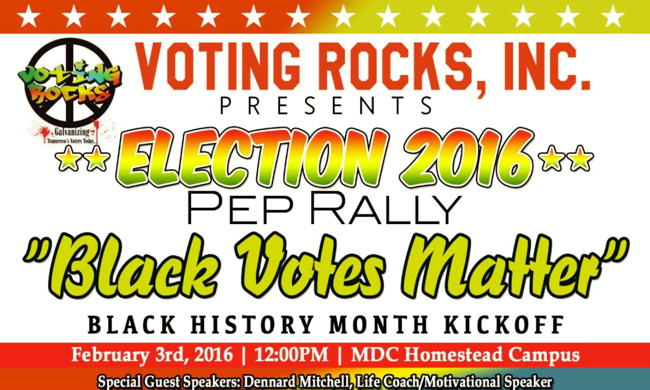 Black votes matter for 500 college terrace homestead fl