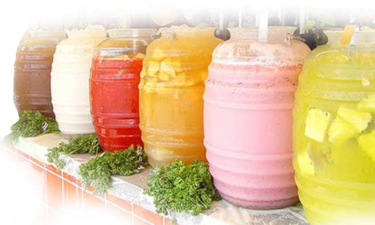 Aguas Frescas Containers
