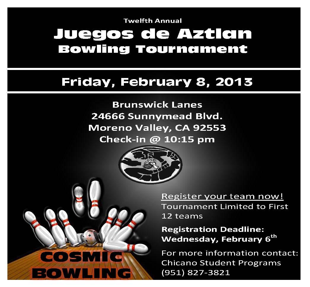 12th Annual Juegos De Aztlan: Bowling Tournament