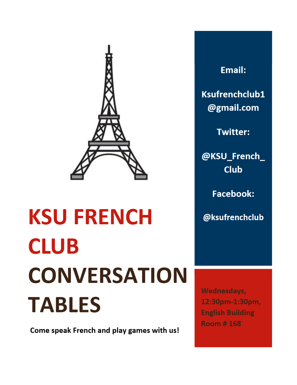 Delicieux Our Conversation Table Flyer