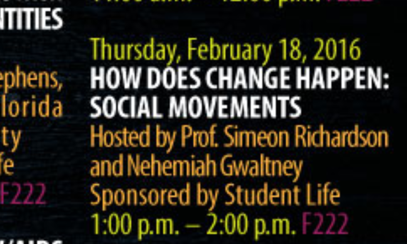 How does change happen social movements for 500 college terrace homestead fl