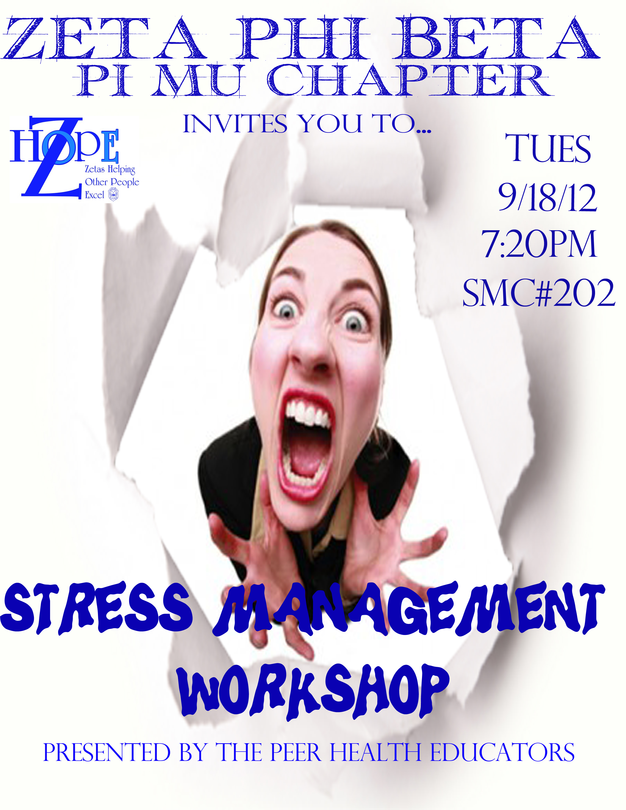 stress managment Techniques for stress management can be gained from self-help books, online  resources, or by attending a stress management.