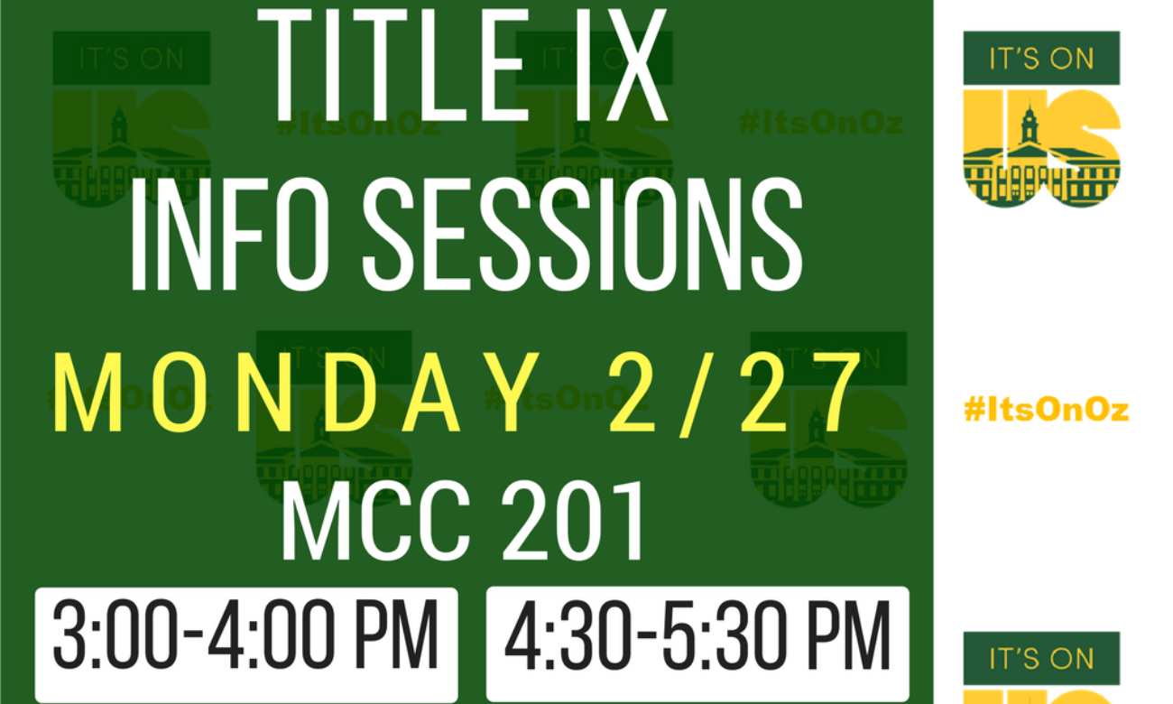 Title IX Information Session