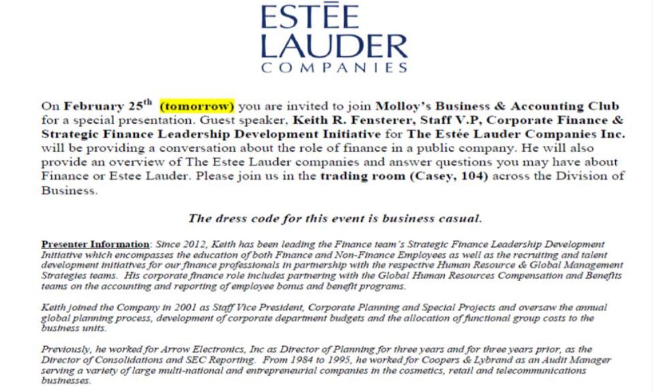 estee lauder strategic case study