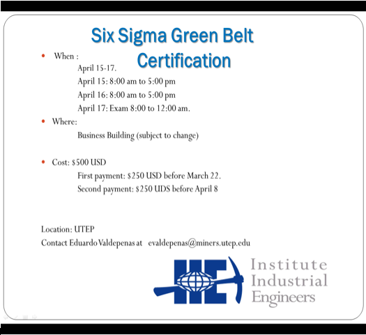 six sigma green belt certification pdf