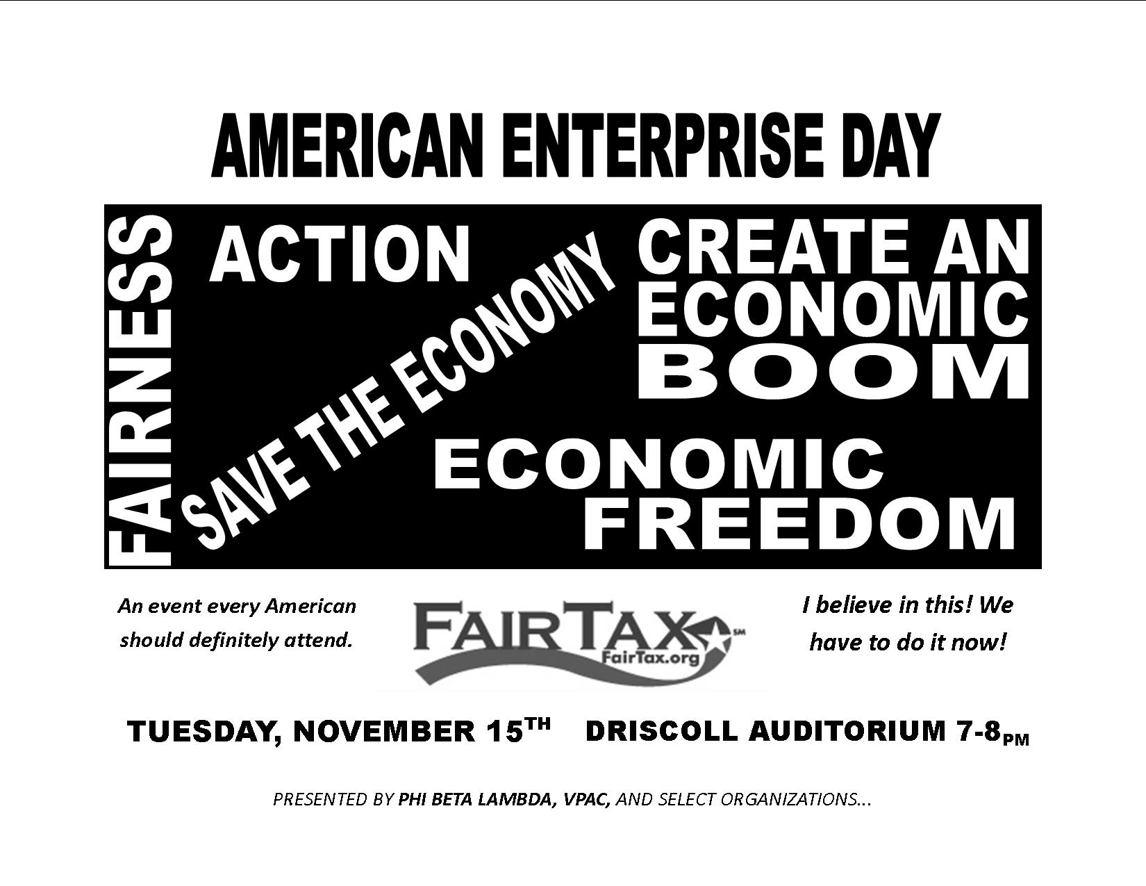 american enterprise day essay Chapters celebrate american enterprise day through a wide range of activities,   have business students write essays on the american enterprise system.