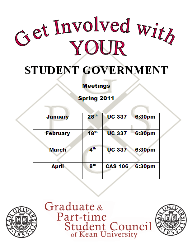 Graduate and Part-time Student Council Meeting